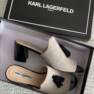 Karl Lagerfeld wines shoes
